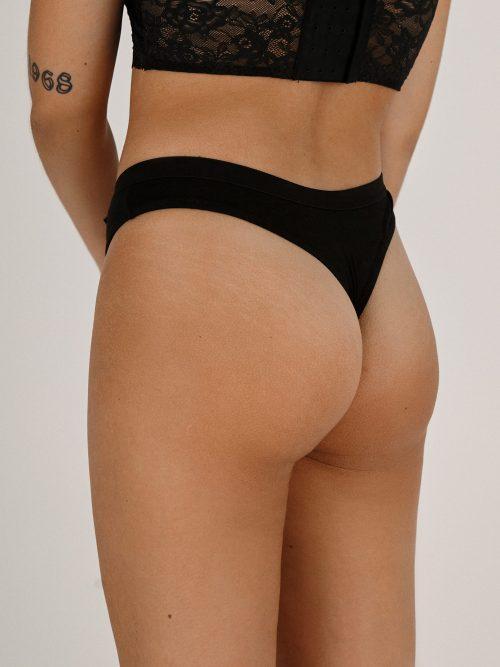 Moja Womens thong black - back