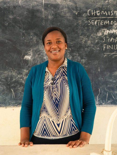 Bahati Foya - A language teacher at Nshupu secondary school.