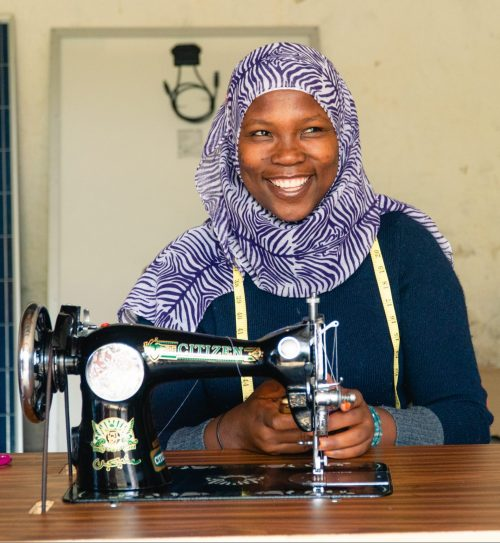 Mama Ismael - Manager at the Tumaini sewing centre.